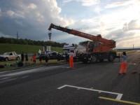 Práce traťových komisařů (foto AMD Most)