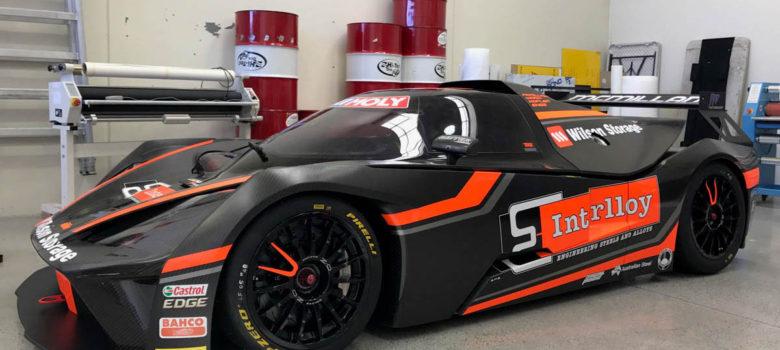 Vůz KTM X-BOW GT4 posádky týmu M Motorsport pro závod Liqui-Moly Bathurst 12 Hour