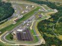 Letecký pohled na mostecký autodrom