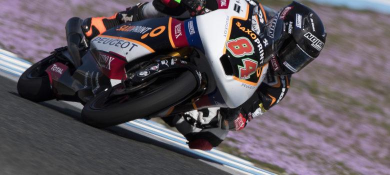 #84 Kornfeil Jakub (CZE) při testech v Jerezu, Peugeot Motorcycles Saxoprint Team (foto Peugeot MC Saxo Print Team)