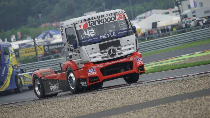#42 Andre Kursim (DEU), TANKPOOL 24 RACING (DEU), Mercedes Benz, FIA ETRC (European Truck Racing Championship) Most (foto: Milan Spurný)