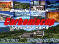 Slavnostní vyhlášení vítězů ashrnutí ročníku Carbonia cupu 2017