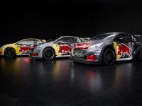 Tři rallykrosové speciály továrního týmu Peugeot Total pro sezonu 2018