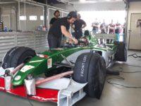 Formule1 Marka Webbera se proháněla pomosteckém autodromu, dorazili fanoušci inovináři