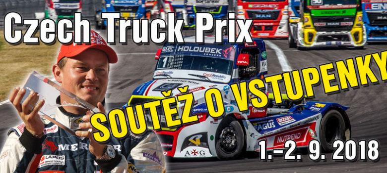 Soutěž ovstupenky naCzech Truck Prix 2018 se vrací