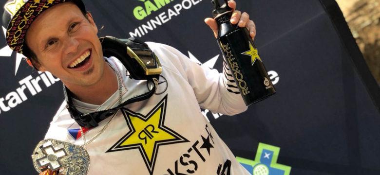 Libor Podmol se stříbrnou medailí z X-Games