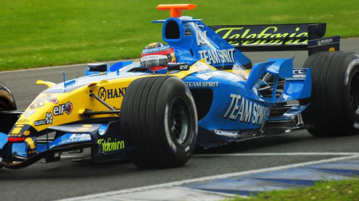 Fernando Alonszo z roku 2005, kdy získal svůj první mistrovský titul ve formuli 1 (foto: David Alonso Pérez)