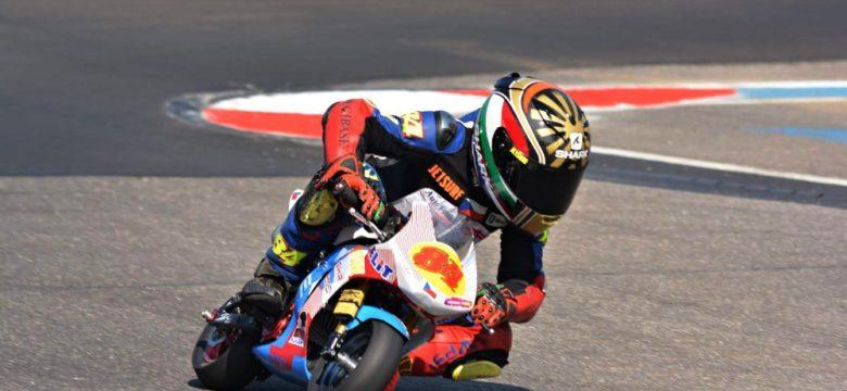 Matyáš Pálka v závodě mistrovství Evropy minibiků na italském okruhu Franciacorta