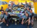Vítězní posádka Rallye Jeseníky 2018 Roman Odložilík a Martin Tureček na voze Ford Fiesta R5.