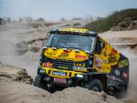 #504 Martin Macík na LIAZu se pere s písečnou dakarskou dunou, Big Shock Racing