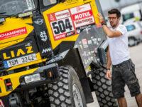 Martin Macík u svého kamionu LIAZ, Big Shock Racing