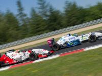 Souboj #41 Nico Gruber, Nico Gruber, AUT, Tatuus FR2.0 a #14 GT2 Motorsport, ŠAFÁŘ Václav, CZE, Tatuus FR