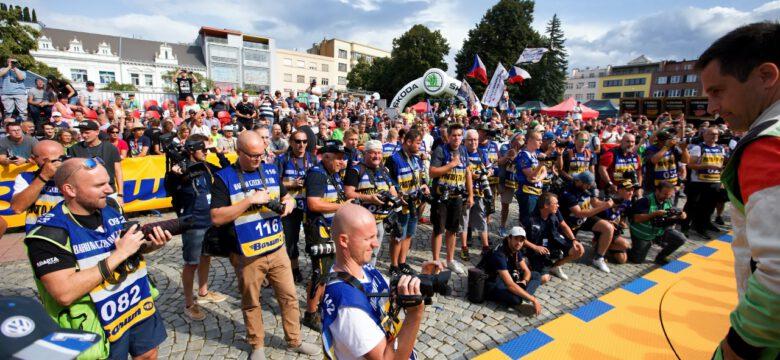 Fotografové u cílové rampy Barum Rally Zlín 2019 (foto: Pavel Pustějovský)