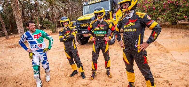 Tým Big Shock Racing po testování v Tunisu