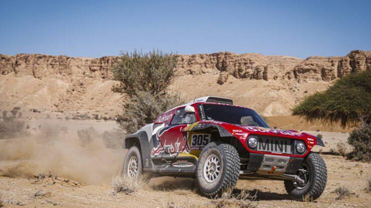 #305 Sainz Carlos (ESP), Cruz Lucas (ESP), Mini John Cooper Works Buggy, Bahrain JCW X-Raid Team, etapa 9 / Dakar 2020, 891 km - SS 415 km, Saudská Arabie, 14. ledna 2020 (foto: DPPI Media)