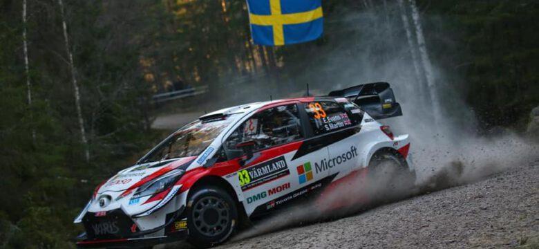 #33 Evans–Martin, GBR, Toyota Yaris WRC, Toyota Gazoo Racing, Švédská rallye 2020