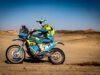 Výměna pneumatiky, #31 Martin Michek, CZE, KTM, ORION – Moto Racing Group, Dakar 2021